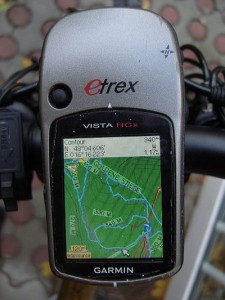 Garmin Vista HCx showing an old version of the openmtbmap