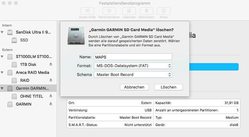 SD Card formattting